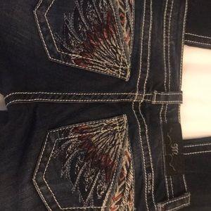 Miss Me Junior Jeans size 25 x 28.5 boot cut dark